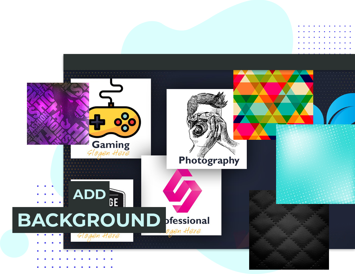 How To Add Background In Logo Maker