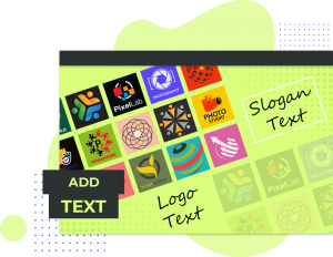 How To Add TEXT Using Logo Maker